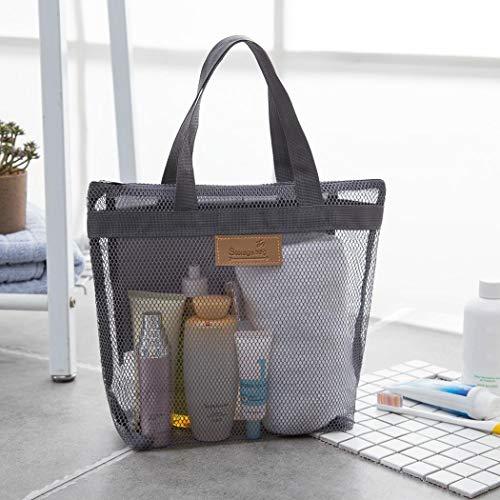 - Asatr Durable Practical Mesh Zipper Closure Travel Wash Bag Storage Bag Packing Organizers Gray