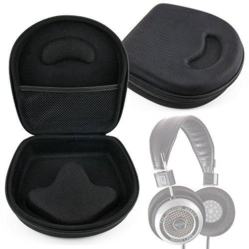 Grado Headphone Black (DURAGADGET Hard EVA Storage Case For Headphones/Earbuds, With Compartment (Black) For Grado: SR325is, SR225i, SR125i, SR80i, SR60i, PS1000, PS500, RS1i, RS2i, GS1000i)