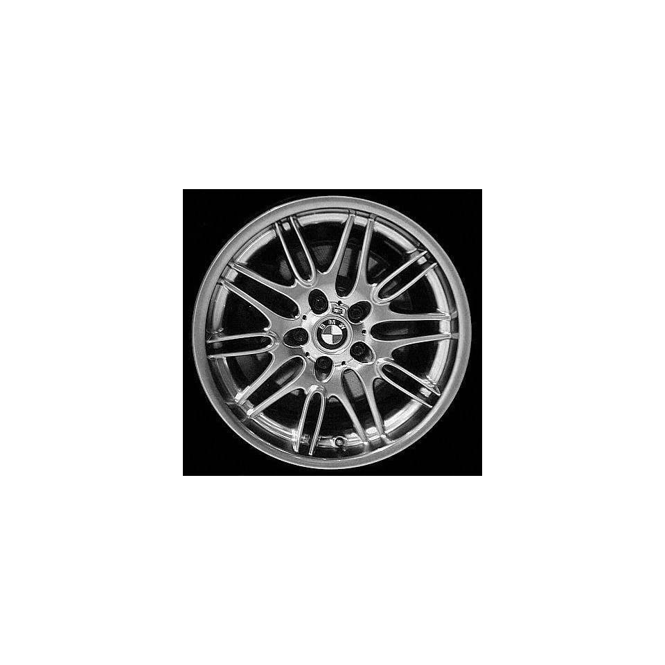 00 03 BMW M5 ALLOY WHEEL RIM 18 INCH, Diameter 18, Width 9.5 (10 DOUBLE SPOKE, REAR), 22mm offset, SILVER, 1 Piece Only, Remanufactured (2000 00 2001 01 2002 02 2003 03) ALY59323U10