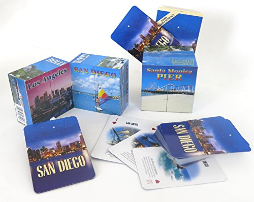 San Diego Souvenir gift set, includes unique folding cube, a deck of playing cards and a large magnet.