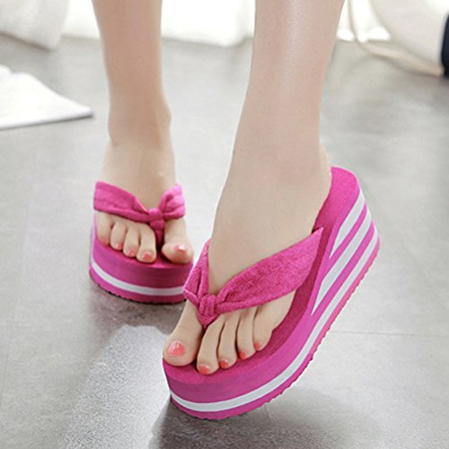 Shoes Foam Indoor Flops 01 Heels Beach Outdoor Flip Sandals Slipper ENCOCO Wedge Platform Women wqXqz7B