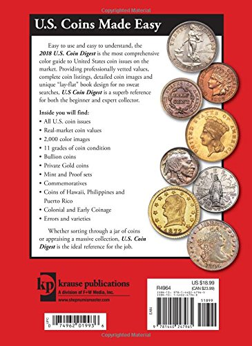 2018 U.S. Coin Digest: The Complete Guide to Current Market Values by Krause Publications (Image #1)
