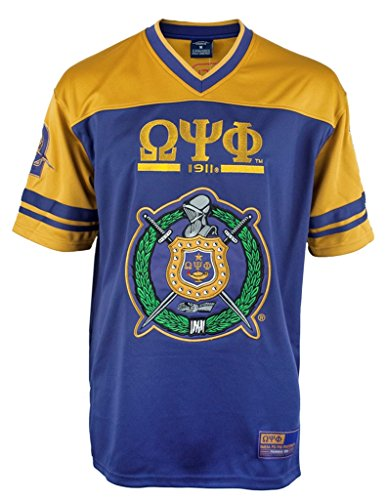 Omega Psi Phi Fraternity Mens New Football Jersey Large Purple