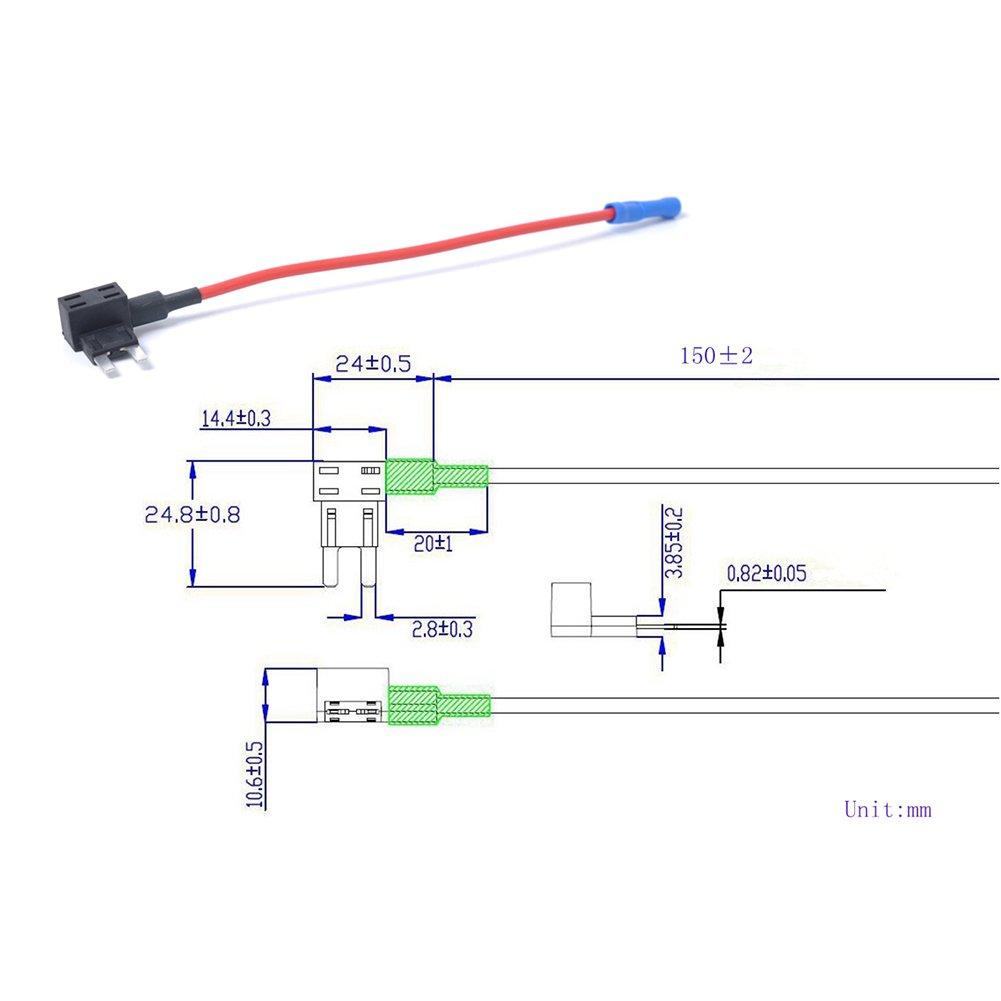 4c6b0347eb4 lennonsi Auto Mini  Peque ñ o Fusible distribuidor distribuidor de  derivaci ó n Cable abgriff ...