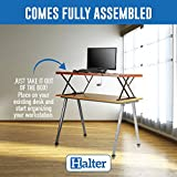 Halter Manual Adjustable Height Table Top Sit/Stand Desk (Cherry)