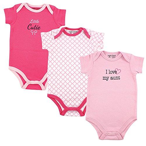 Luvable Friends Baby Sayings Bodysuit 3pk, Girl Aunt, 0-3 Months