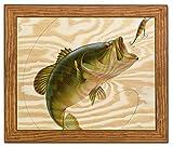 Framed Wood Wall Art/Decorative Sign 13″ x 11″ – Bass