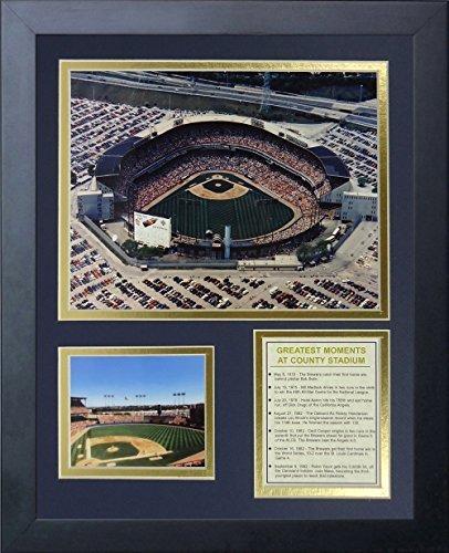 """Legenden Sterben Nie gerahmtes Foto Collage, 11 x 35,6 cm """"Milwaukee Brewers County Stadium von Legends Never Die"""