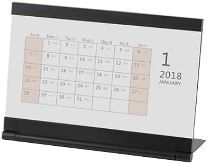 2018 Calendario de escritorio/Calendario del profesor/Plan de la mesa de negocios, A6: Amazon.es: Oficina y papelería