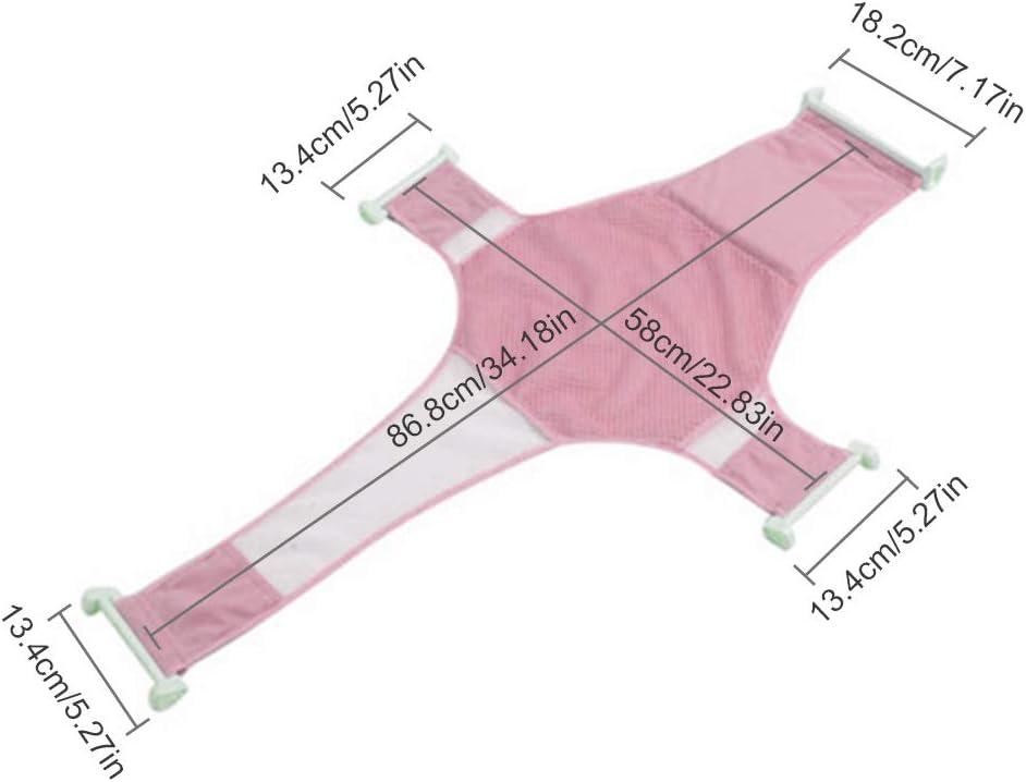 Soporte para ba/ñera de beb/é c/ómodo y de alta calidad IWILCS dise/ño azul antideslizante ajustable accesorios de malla para ba/ño de beb/é