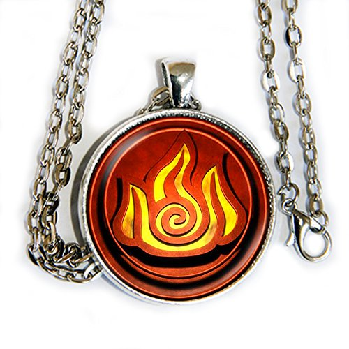 Avatar Airbender Fire symbol - Pendant Necklace - HM