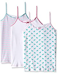 Trimfit Girls' 100 Percent Cotton Tagless Assorted Camisole Undershirt 3-Pack