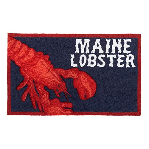 (Northeast Home Goods Maine Lobster Hand Hooked Area Rug, 18-Inch x 30-Inch)
