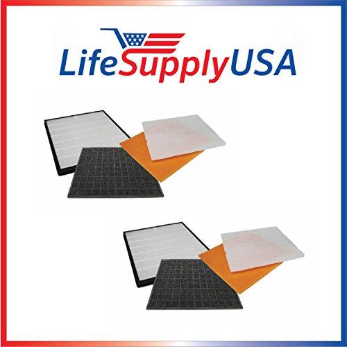 2 Pack Filter Kit Fits Rabbit Air Air Minus A2 SPA-780A & SPA-780A, by LifeSupplyUSA by LifeSupplyUSA