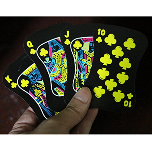 Gentlecarin 54pcs Waterproof Plastic Poker Magic Playing Card Sets for Travel Swimming