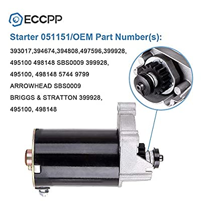 Starters ECCPP fit for Briggs & Stratton Engines Air Cooled 14HP Horizontal / 14HP Vertical / 16HP / 18HP Horizontal 5743N: Automotive