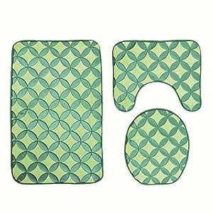 Amazon Com Thicken Flannel Bath Mat Bathroom Carpet