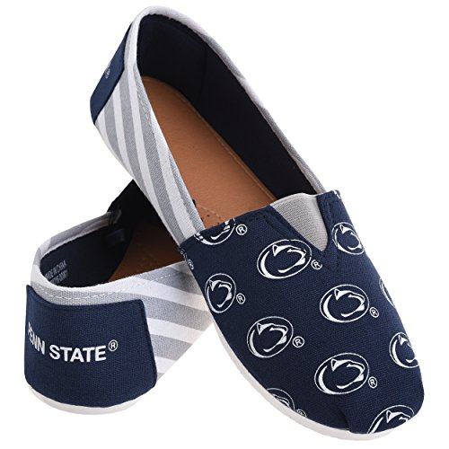 Forever Collectibles NCAA Penn State Nittany Lions Women's Canvas Stripe Shoes, Medium...
