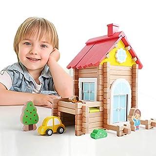 iwood Wooden Log Blocks,STEM Educational Toy Creative Wooden Building Set
