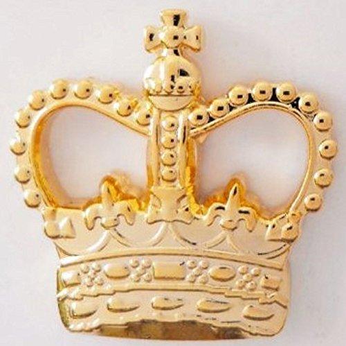 United Kingdom UK St Edward's Crown Gilt Metal Pin Badge