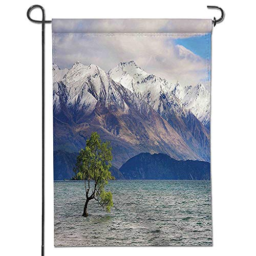 Toronto Blue Pearl (Mikihome Seasonal Garden Flag Lake in The Winter with Snowy Mountain Sunken Tree Pastoral Landscape Pearl Dust Double Sided Weatherproof Flags)