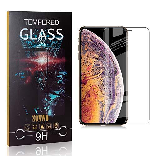 SONWO Panzerglasfolie für iPhone 11 Pro Max, 1 Stück HD Displayschutzfolie kompatibel mit iPhone 11 Pro Max, Anti-Kratzen, Anti-Bläschen