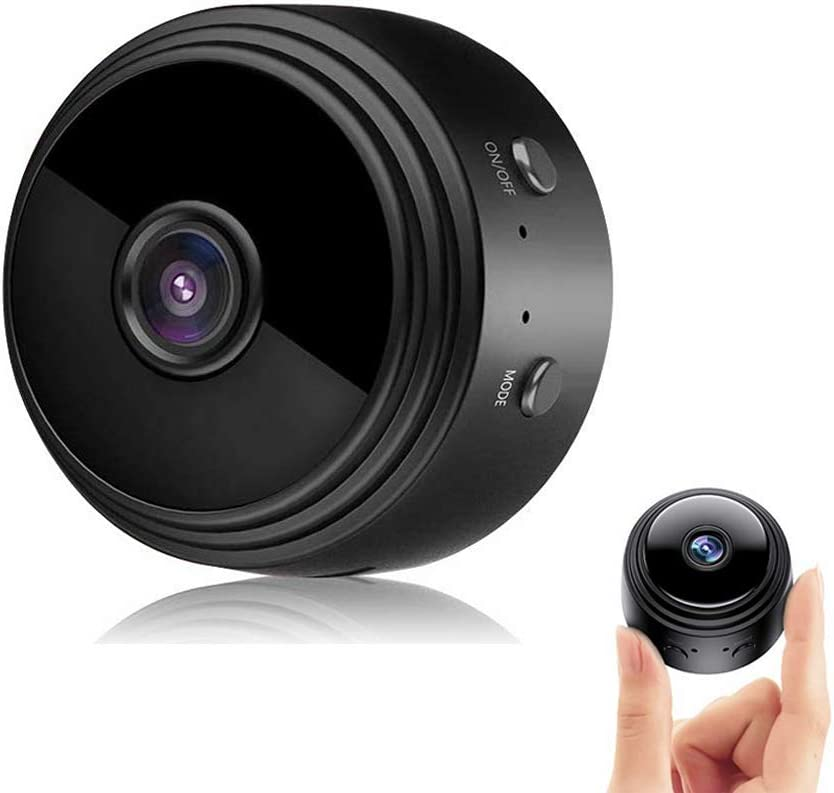 Mini Camera Wireless WiFi Camera with Audio and Video,Full HD 1080P Portable Small Nanny Cam Remote Security Cameras,Auto Night Vision,Motion Detection for Home/Indoor/Outdoor