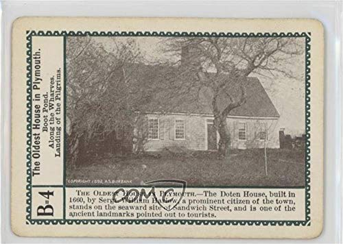 The Oldest House in Plymouth (Trading Card) 1897 Fireside Game of the Mayflower - [Base] #B=4