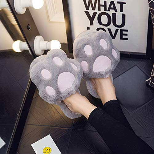 Slippers Korean Size 37 Home A Bottom Thick And Version Autumn B Lovely Winter Female Hair color Soft 38 Cotton Td Indoor 5wTqUv7