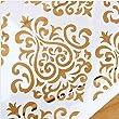 Flower Cake Decorating Tools Stencil Carved 3-Piece Classic Fondant Imprint Mat Set, Clear