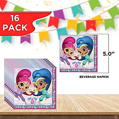 SHIMMER AND SHINE SMALL PAPER PLATES ~ Birthday Party Supplies Cake Dessert 8