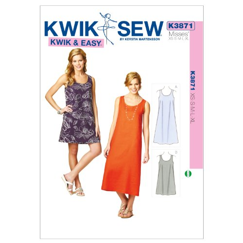Kwik Sew K3871 Dresses Sewing Pattern, Size XS-S-M-L-XL by KWIK-SEW PATTERNS