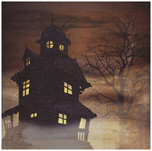 Ohio Wholesale Radiance Lighted Haunted House Canvas Wall Art, from our Snowmen Collection