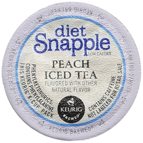 Keurig - Diet Snapple Peach Tea Brew-Over-Ice K-Cups (16-Pack) (Brew Over Ice Keurig compare prices)