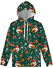 Renewold Kids' Hoodies Youth Girls Boys Sweatshirt with Pocket Pullover Long