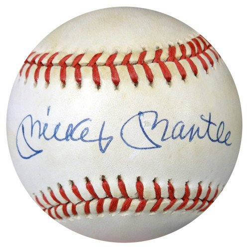 Mickey Mantle Signed American League Baseball New York Yankees - PSA/DNA Authentication - Autographed MLB (Psa Dna Autograph Authentication)