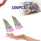 Aphrodite Hot 100pcs Color Nylon latch Flat Polishing Polisher Prophy Brushes