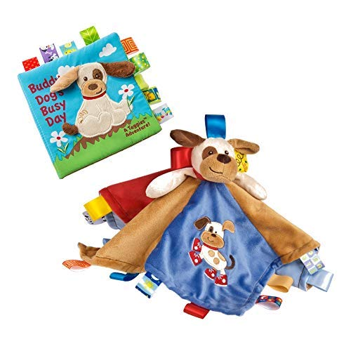 (Mary Meyer Taggies Security Blanket and Soft Book Set for Babies and Toddlers  (Dog))