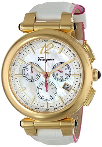 Salvatore Ferragamo Women's FI3020014 IDILLIO Analog Display Swiss Quartz White Watch by Salvatore Ferragamo