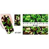 Nail Art Water Transfer Stickers With Camouflage - XF1297 Nail Sticker Tattoo - FashionLife by FashionLife