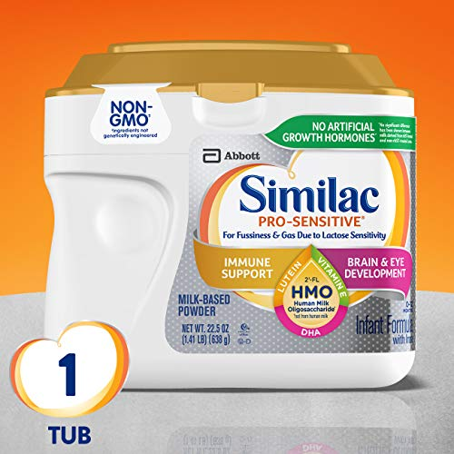 Similac Pro-Sensitive Infant Formula with 2′-FL Human Milk Oligosaccharide* (HMO) for Immune Support, 22.5 ounces