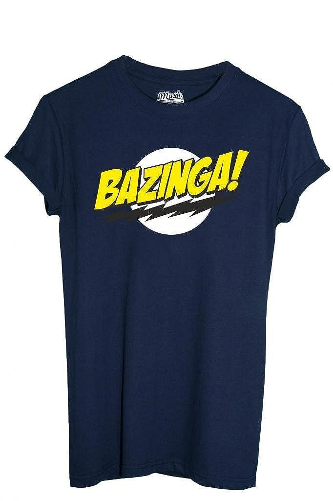 346330790 MUSH T-SHIRT BAZINGA BIG BANG THEORY-SERIE TV by Dress Your Style:  Amazon.it: Abbigliamento