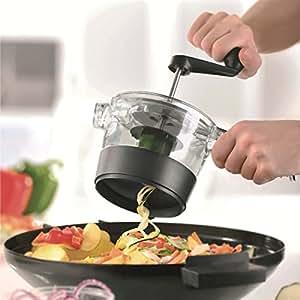 Accmart Hand cranking Spiral Slicer vegetable cutter for Vegetarians vegetable fruit salad