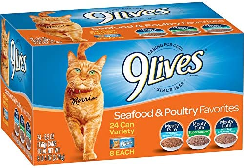 9 Lives Seafood & Poultry Favorites Wet Cat Food Variety (24 Pack), 5.5 Oz 2