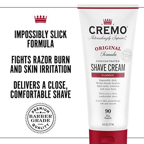 Cremo Barber Grade Original Shave Cream, Astonishingly Superior Ultra-Slick Shaving Cream Fights Nicks, Cuts and Razor…