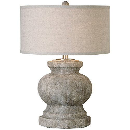 Uttermost 26614-1 Verdello Antiqued Stone Table - Lamp Transitional Hudson Table