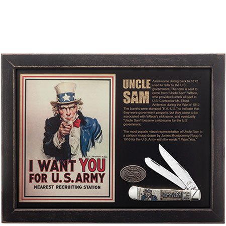 W.R. Case & Sons Cutlery United States Army Trapper Uncle Sam Commemorative Knife
