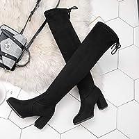 8db151eb888 ... Caña Alta para Mujer Slim Zapatos de Tacón Grueso Botitas 7cm. Cargando  imágenes.