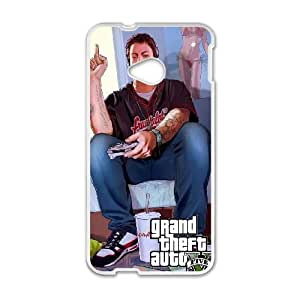 GTA 5 Jimmy Playing Videogames HTC One M7 Cell Phone Case White Delicate gift AVS_665616