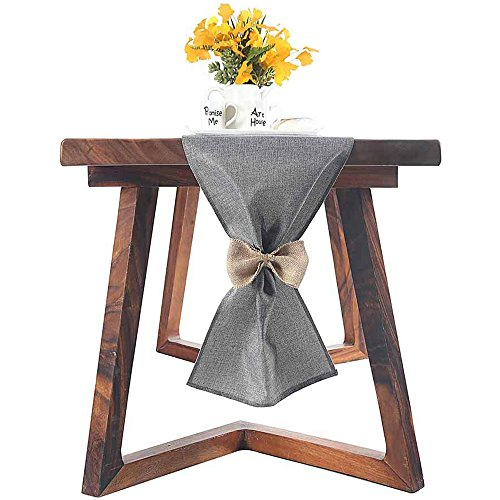 We Moment Gray Natural Burlap Table Runner 13x70Inch-Perfect for Weddings, Farmhouse Table Runner,Dinners,Parties,Dresser Cover Runner,Kitchen,Party Decorations